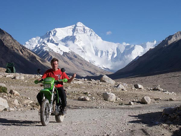 Heinrich Wegenstein in front of Mount Everest